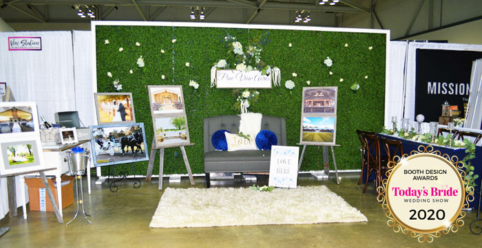 Pine View Acres Bridal Show Booth | As seen on Todaysbride.com