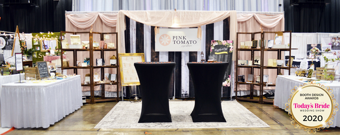 Booth Design | Pink Tomato | As seen on TodaysBride.com