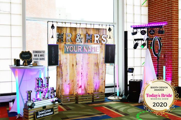 Rokestar Bridal Show Booth | As seen on TodaysBride.com