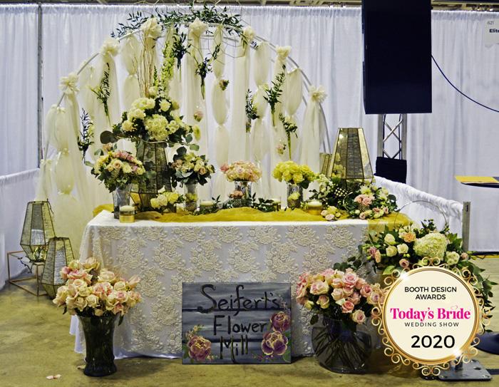 Seifert's Flower Mill Bridal Show Booth | As seen on TodaysBride.com
