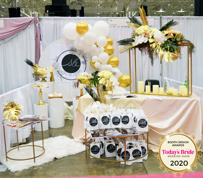 Booth Design | So Bloom | As seen on TodaysBride.com