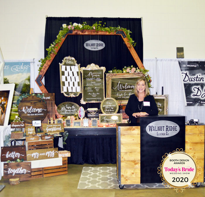 Walnut Ridge Leather Co Bridal Show Booth | As seen on TodaysBride.com