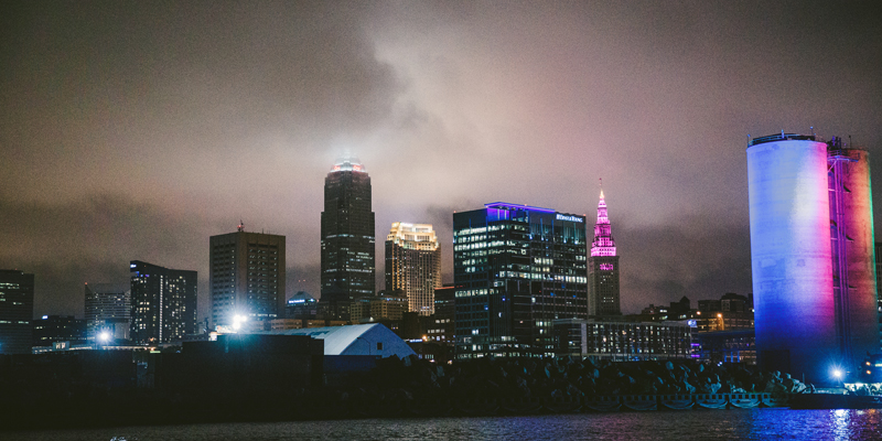 Cleveland Skyline | too much awesomeness | as seen on Today's Bride Pros